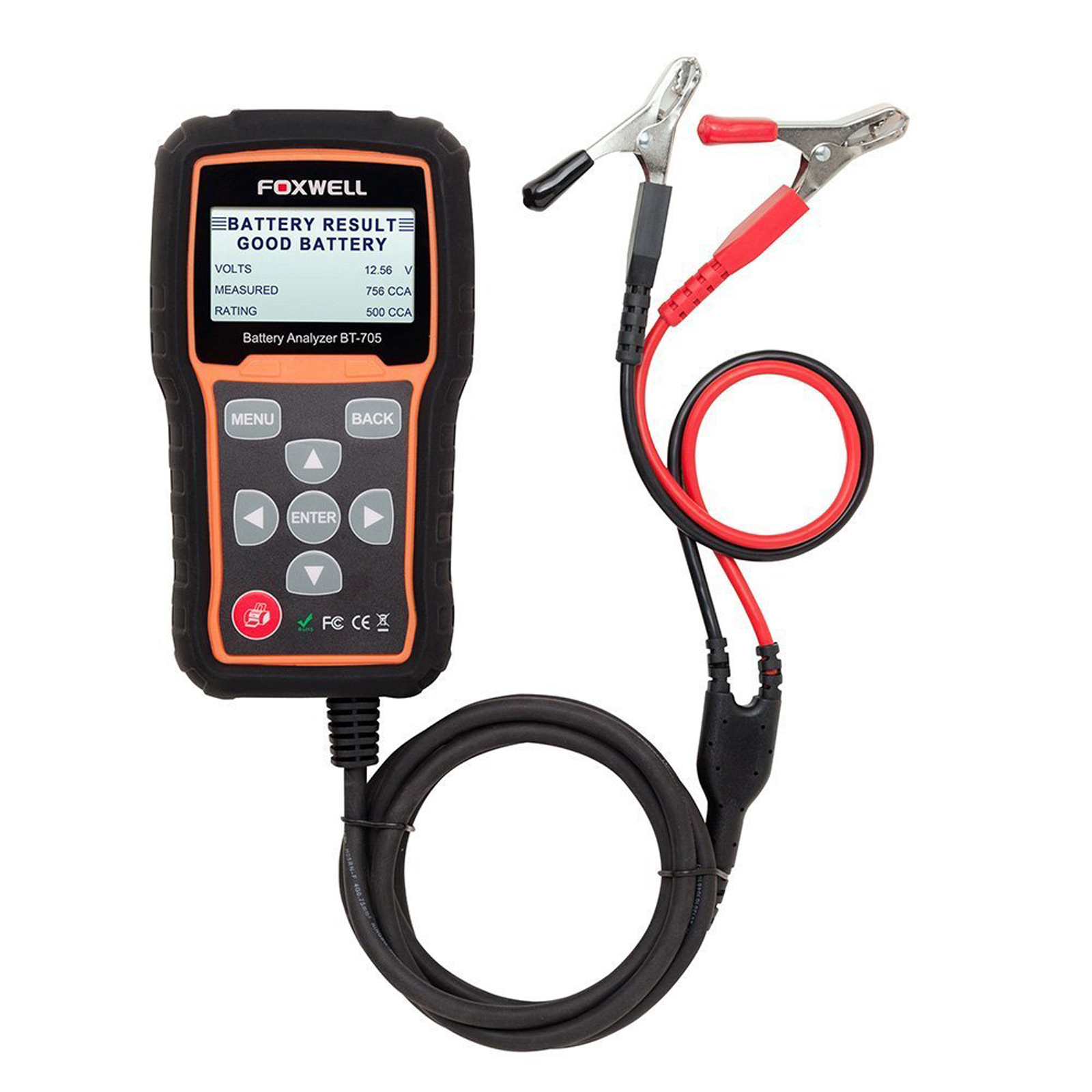 Auto Battery Tester Product : Foxwell bt v auto battery tester analyser flooded