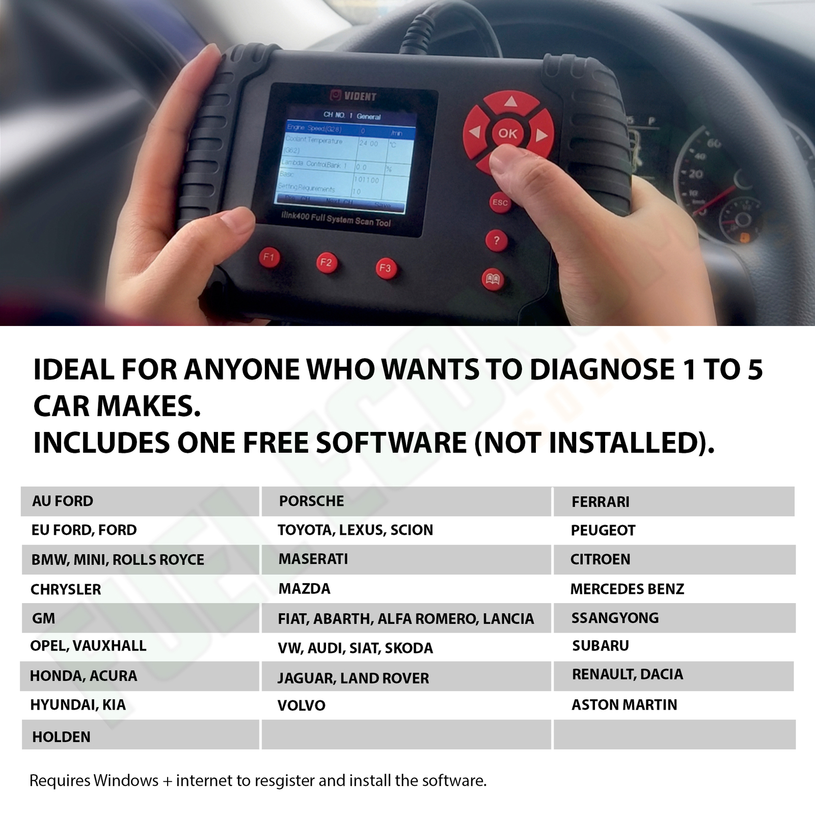 iLink400 OBD OBD2 Scan Tool For BMW Engine ABS Airbag Transmission
