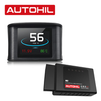 AUTOHIL DEAL - AX2 Bluetooth OBD2 Scanner with AVM1 Digital Gauges HUD